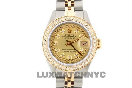 ROLEX 1.8ct 26mm LADIES Datejust GOLD AND STAINLESS STEEL WTH APPRAISAL Image 1