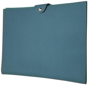 Hermès Hermes Blue Ulysse Large Notebook Cover with Lined Notebook & Refill