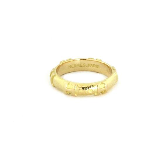 Preload https://img-static.tradesy.com/item/25587174/hermes-59637-h-logo-18k-yellow-gold-4mm-dome-band-ring-0-0-540-540.jpg