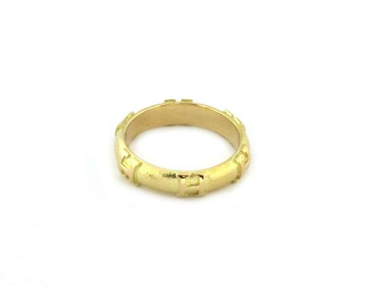 Hermes H Logo 18k Yellow Gold 4mm Dome Band Ring Image 3