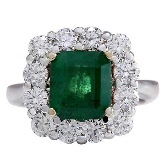 Preload https://img-static.tradesy.com/item/25587212/green-495-carat-natural-emerald-14k-white-gold-diamond-ring-0-0-540-540.jpg