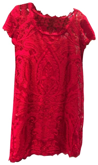 Preload https://img-static.tradesy.com/item/25587298/hot-pink-lace-mid-length-cocktail-dress-size-12-l-0-1-650-650.jpg