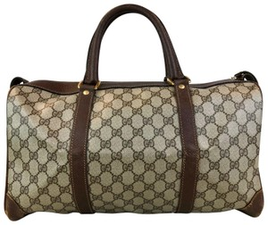 Gucci Material_canvas Color_brown Type_handbags Brand_gucci Gg brown Travel Bag