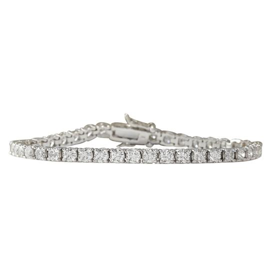 Fashion Strada 3.55ctw Natural Diamond 14k Solid White Gold Bracelet Image 0