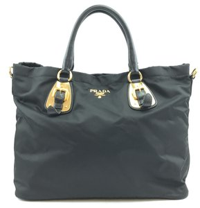 Prada Tessuto Tote No Strap Shoulder Bag
