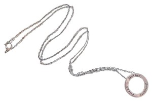 Unknown Sterling Silver Mother Daughter Friend Open Circle 18 Inch Necklace