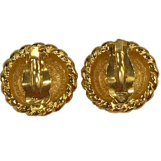 Chanel CHANEL Vintage CC Logos Earrings Gold-Tone Clip-On 7477 Image 3