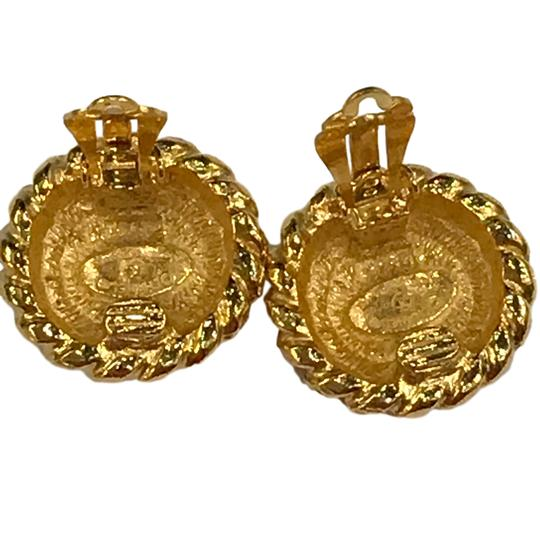 Chanel CHANEL Vintage CC Logos Earrings Gold-Tone Clip-On 7477 Image 4