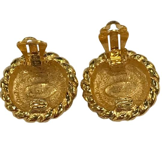 Chanel CHANEL Vintage CC Logos Earrings Gold-Tone Clip-On 7477 Image 8