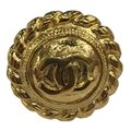 Chanel CHANEL Vintage CC Logos Earrings Gold-Tone Clip-On 7477 Image 9