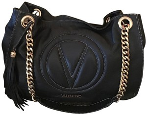 Mario Valentino Leather Duster Chain Shoulder Bag