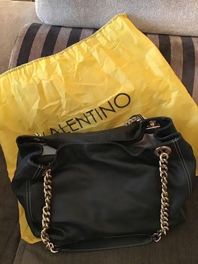 Mario Valentino Leather Duster Chain Shoulder Bag Image 1