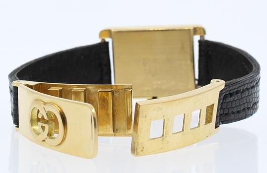 Gucci RARE Vintage 1960's GUCCI 18k Yellow Gold w Solid Gold Fancy Buckle La Image 2