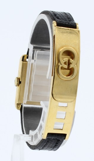Gucci RARE Vintage 1960's GUCCI 18k Yellow Gold w Solid Gold Fancy Buckle La Image 5