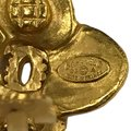 Chanel Chanel 96 A CC Logo Gold Plated Flower Clip On Earring 7478 Image 11