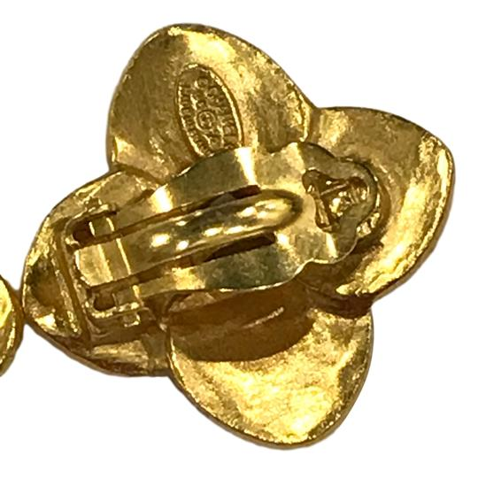 Chanel Chanel 96 A CC Logo Gold Plated Flower Clip On Earring 7478 Image 7