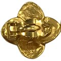 Chanel Chanel 96 A CC Logo Gold Plated Flower Clip On Earring 7478 Image 8