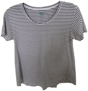 Boden T Shirt White and black stripe