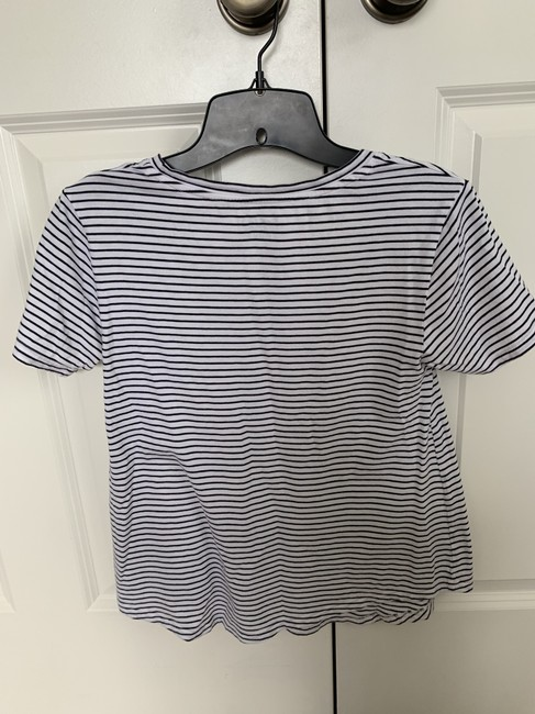 Boden T Shirt White and black stripe Image 2