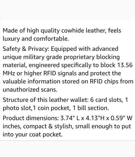 Other RFID WOMEN'S SMALL BIFOLD LEATHER WALLET Image 5