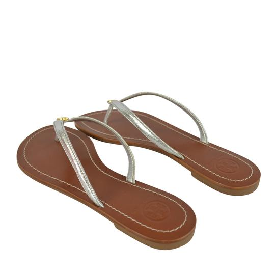 Tory Burch Terra Thong Silver Sandals Image 2