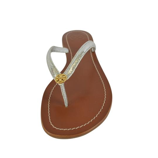 Tory Burch Terra Thong Silver Sandals Image 3