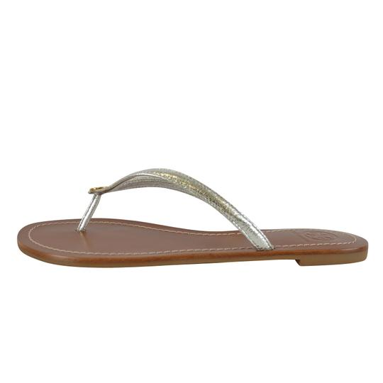 Tory Burch Terra Thong Silver Sandals Image 4