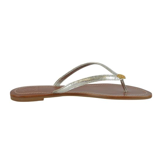 Tory Burch Terra Thong Silver Sandals Image 6