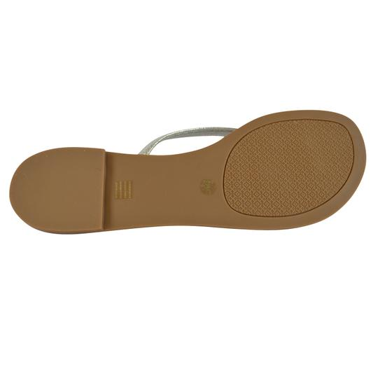 Tory Burch Terra Thong Silver Sandals Image 7