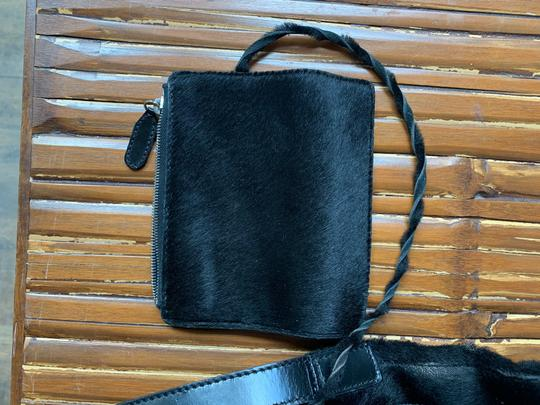 Anya Hindmarch Leather Pony Fur Shoulder Bag Image 8