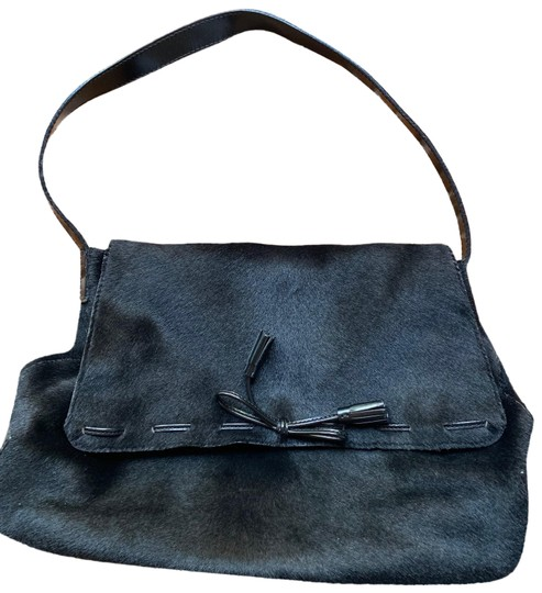 Anya Hindmarch Leather Pony Fur Shoulder Bag Image 0