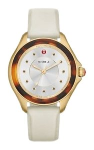 Michele NWT Cape Ivory Gold, Tort Topaz Dial Watch MWW27A000030