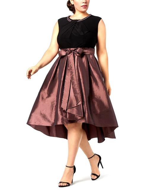 Preload https://img-static.tradesy.com/item/25588048/sl-fashions-brown-womens-black-high-low-fit-and-flare-24w-mid-length-formal-dress-size-24-plus-2x-0-0-650-650.jpg