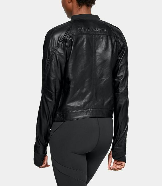 Under Armour Leather Motorcycle Jacket Image 1