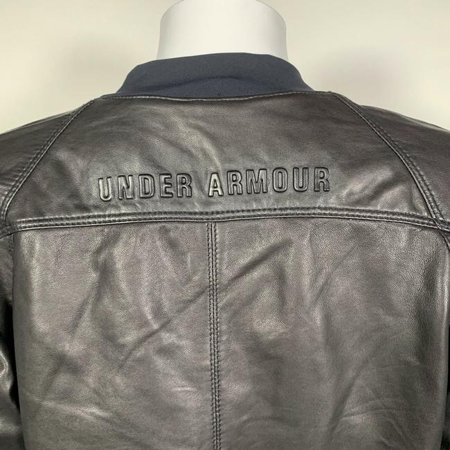 Under Armour Leather Motorcycle Jacket Image 10