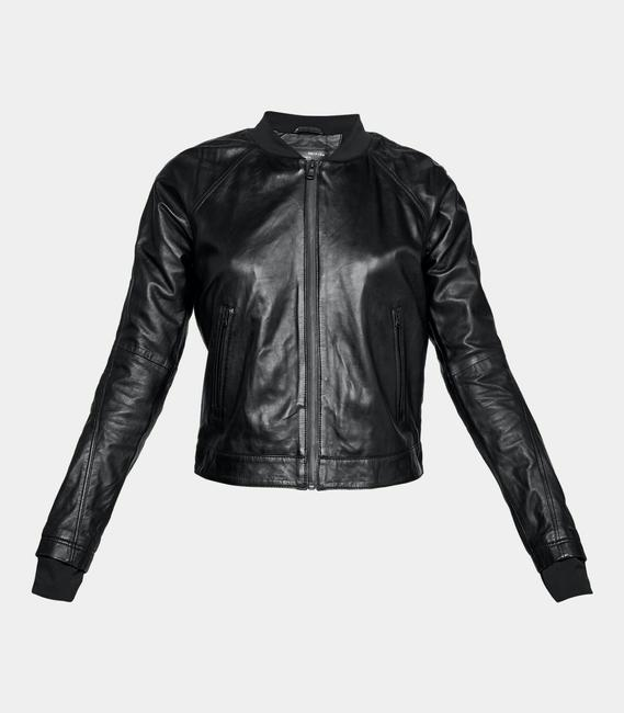 Under Armour Leather Motorcycle Jacket Image 2