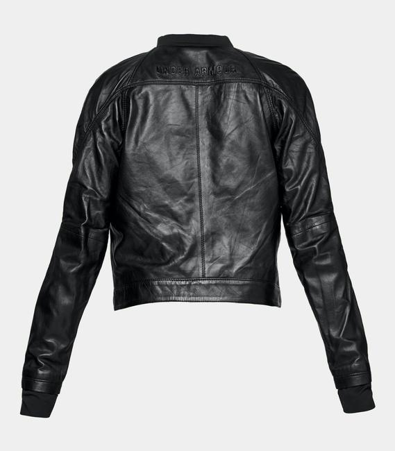 Under Armour Leather Motorcycle Jacket Image 3