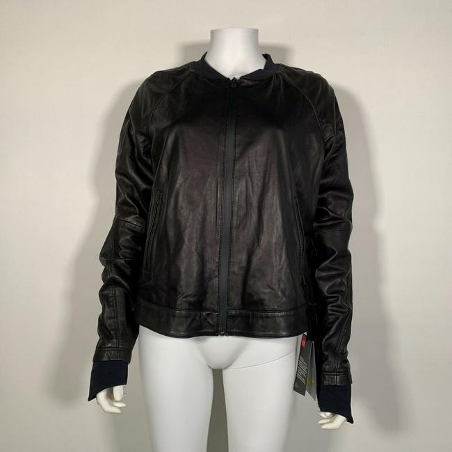 Under Armour Leather Motorcycle Jacket Image 4