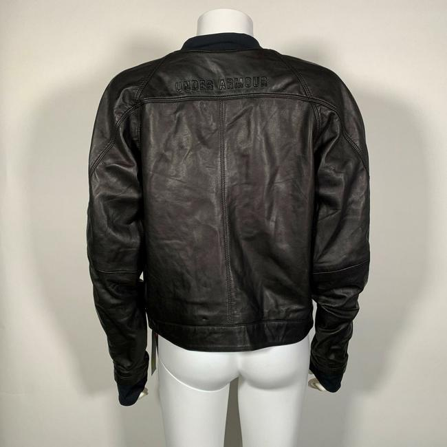 Under Armour Leather Motorcycle Jacket Image 5