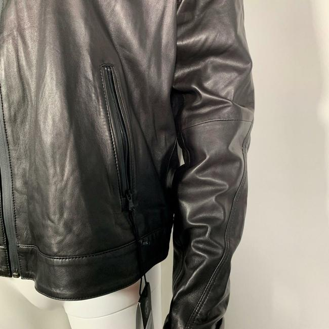 Under Armour Leather Motorcycle Jacket Image 6
