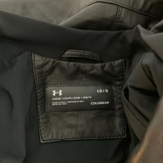 Under Armour Leather Motorcycle Jacket Image 8