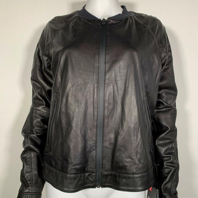 Under Armour Leather Motorcycle Jacket Image 9