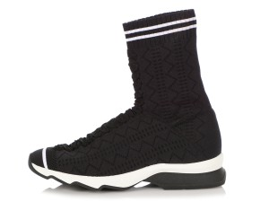 Fendi Fi.q0503.05 Fabric Booties Black Athletic