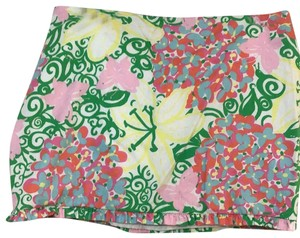 Lilly Pulitzer Mini Skirt Multi color Floral