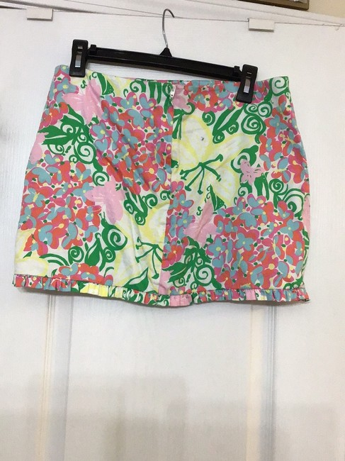 Lilly Pulitzer Mini Skirt Multi color Floral Image 1
