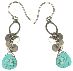 Silpada W2365 Silpada Sterling Silver Howlite Earrings (b)