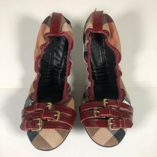 Burberry Canvas Multicolor Flats Image 2