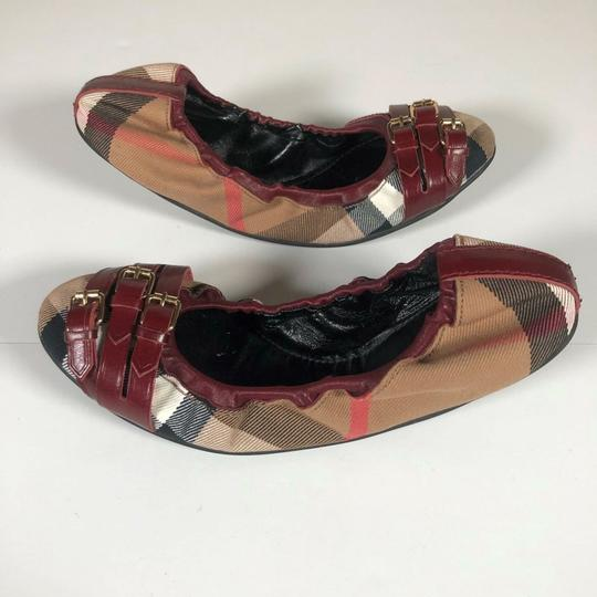 Burberry Canvas Multicolor Flats Image 3