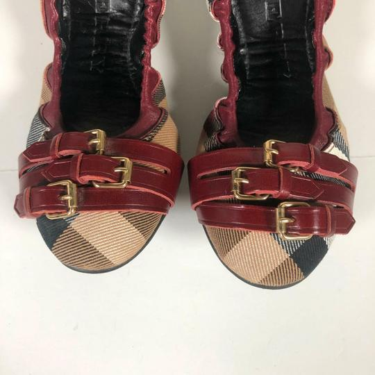 Burberry Canvas Multicolor Flats Image 4