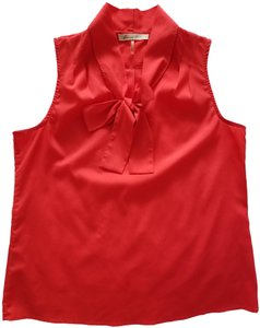 Modcloth Sleeveless Bright Top Red